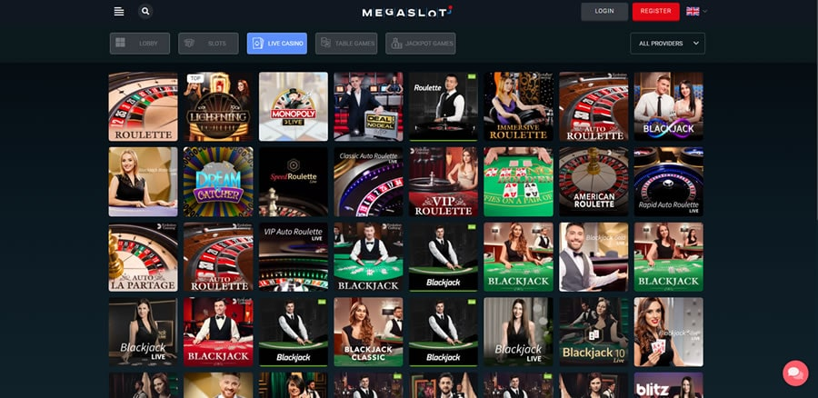 megaslot live casino